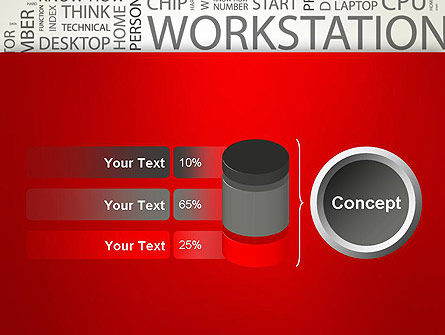 Computer Word Cloud PowerPoint Template Slide 11