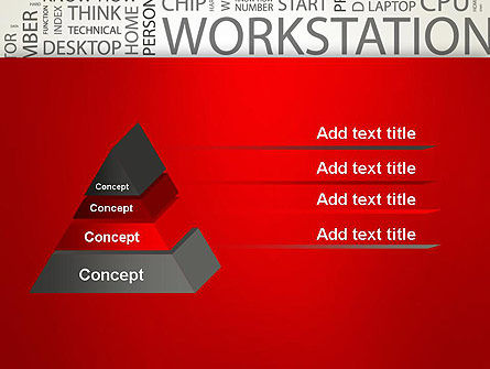 Computer Word Cloud PowerPoint Template Slide 12