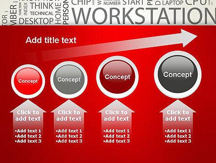 Computer Word Cloud PowerPoint Template Slide 13