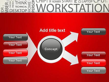 Computer Word Cloud PowerPoint Template Slide 14
