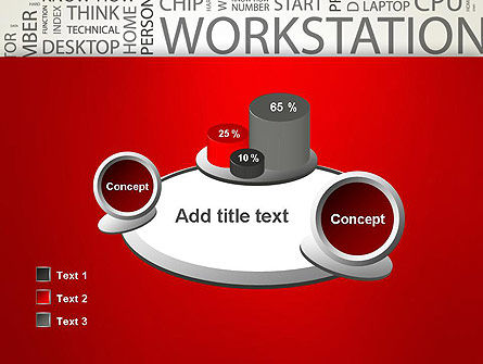 Computer Word Cloud PowerPoint Template Slide 16