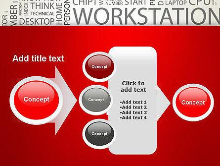Computer Word Cloud PowerPoint Template Slide 17