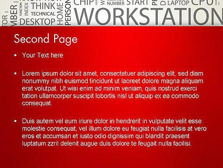 Computer Word Cloud PowerPoint Template, Slide 2, 12607, Computers — PoweredTemplate.com