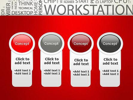 Computer Word Cloud PowerPoint Template Slide 5