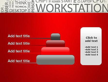 Computer Word Cloud PowerPoint Template Slide 8