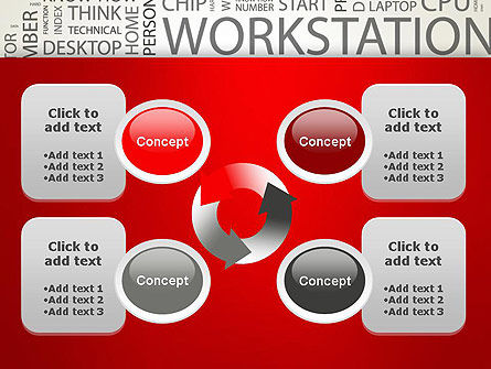 Computer Word Cloud PowerPoint Template Slide 9