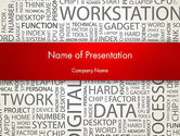 Computers: Computer Word Cloud PowerPoint Template #12607