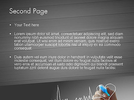 Heart with Heart Rhythm PowerPoint Template, Slide 2, 12608, Medical — PoweredTemplate.com