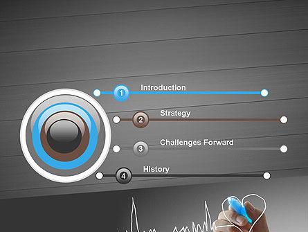 Heart with Heart Rhythm PowerPoint Template, Slide 3, 12608, Medical — PoweredTemplate.com