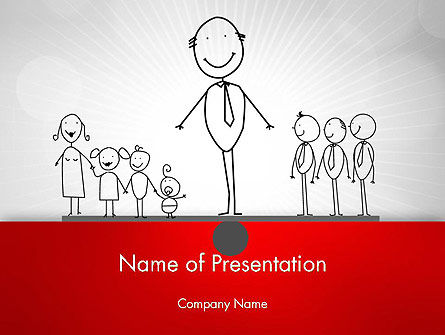 Family Work Balance PowerPoint Template, 12609, Consulting — PoweredTemplate.com