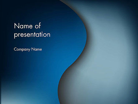 Abstract/Textures: Dark Blue Wave PowerPoint Template #12610