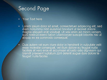 Dark Blue Wave PowerPoint Template Slide 2