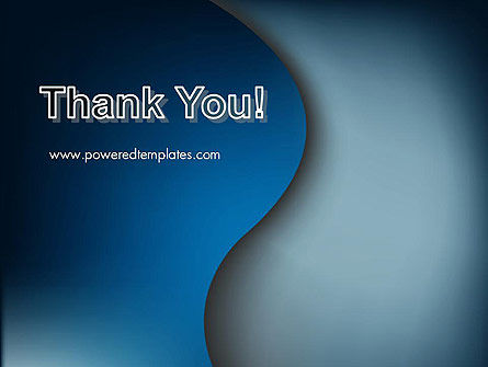 Dark Blue Wave PowerPoint Template Slide 20