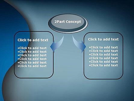 Dark Blue Wave PowerPoint Template, Slide 4, 12610, Abstract/Textures — PoweredTemplate.com