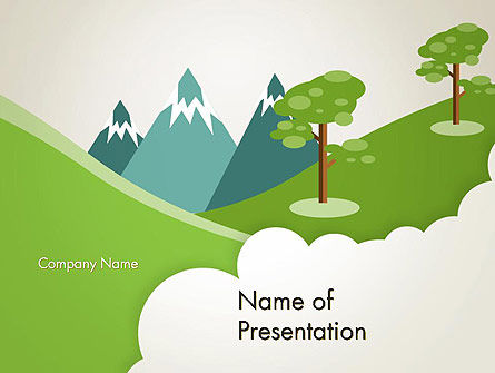 Landscape for Kids PowerPoint Template, 12611, Education & Training — PoweredTemplate.com