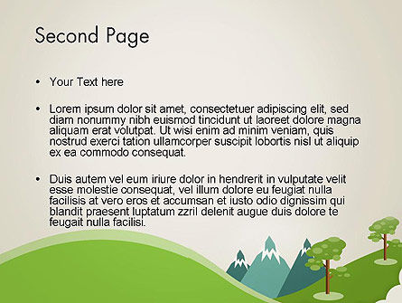 Landscape for Kids PowerPoint Template, Slide 2, 12611, Education & Training — PoweredTemplate.com