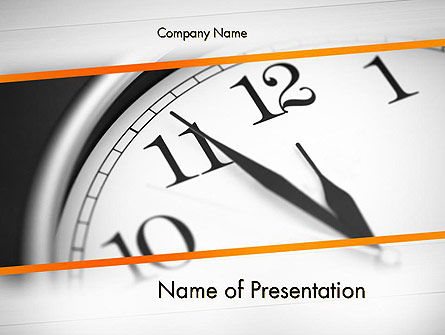 Five Minutes to Twelve PowerPoint Template, 12612, Business Concepts — PoweredTemplate.com