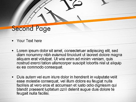 Five Minutes to Twelve PowerPoint Template, Slide 2, 12612, Business Concepts — PoweredTemplate.com