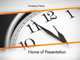 Business Concepts: Five Minutes to Twelve PowerPoint Template #12612