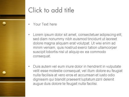Gold Metal Surface PowerPoint Template, Slide 3, 12615, Abstract/Textures — PoweredTemplate.com