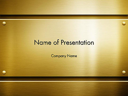 Gold Metal Surface PowerPoint Template