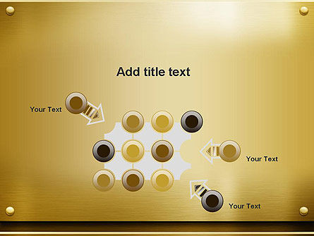 Gold Metal Surface PowerPoint Template Slide 10