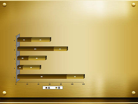 Gold Metal Surface PowerPoint Template Slide 11
