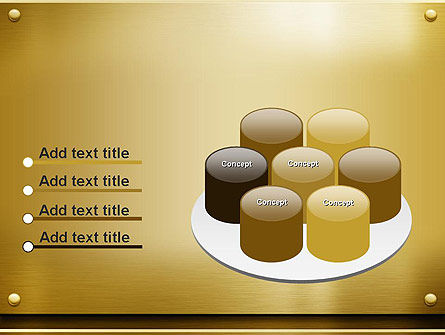 Gold Metal Surface PowerPoint Template Slide 12