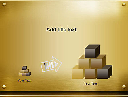 Gold Metal Surface PowerPoint Template Slide 13
