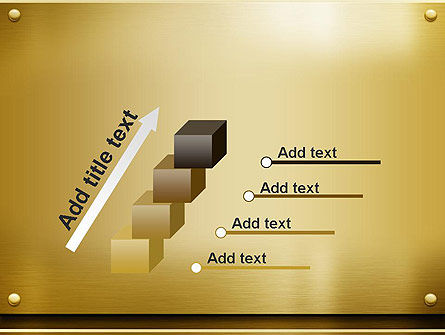 Gold Metal Surface PowerPoint Template Slide 14
