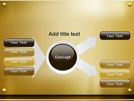 Gold Metal Surface PowerPoint Template Slide 15