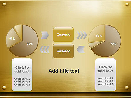 Gold Metal Surface PowerPoint Template Slide 16