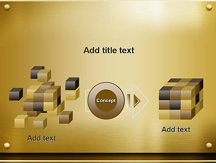 Gold Metal Surface PowerPoint Template Slide 17