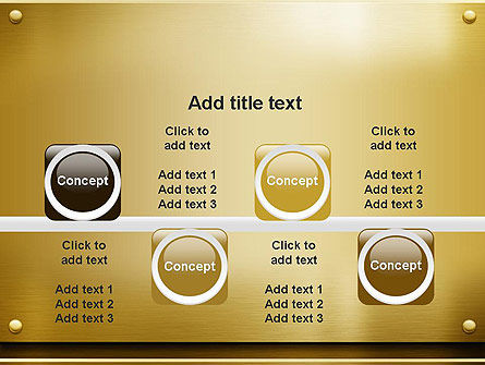 Gold Metal Surface PowerPoint Template Slide 18