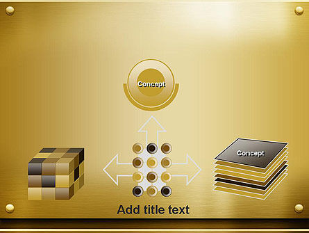 Gold Metal Surface PowerPoint Template Slide 19