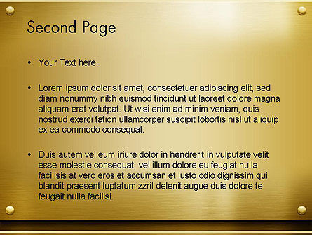 Gold Metal Surface PowerPoint Template Slide 2