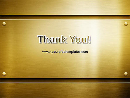 Gold Metal Surface PowerPoint Template Slide 20