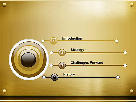 Gold Metal Surface PowerPoint Template Slide 3