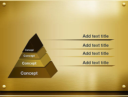 Gold Metal Surface PowerPoint Template Slide 4