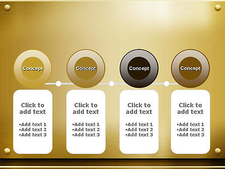 Gold Metal Surface PowerPoint Template Slide 5