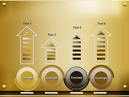 Gold Metal Surface PowerPoint Template Slide 7
