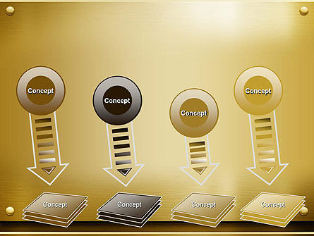 Gold Metal Surface PowerPoint Template Slide 8