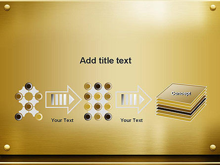 Gold Metal Surface PowerPoint Template Slide 9