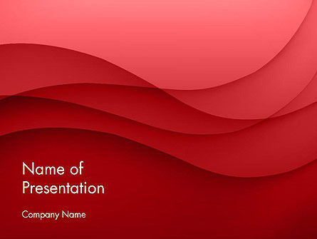 Abstract/Textures: Red Waves PowerPoint Template #12617