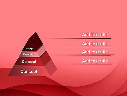 Red Waves PowerPoint Template Slide 12