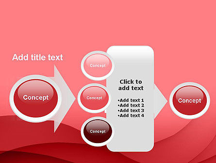 Red Waves PowerPoint Template Slide 17