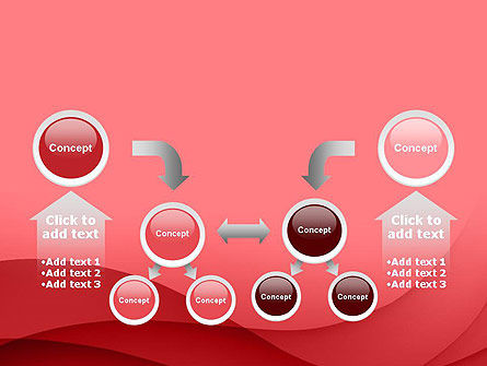 Red Waves PowerPoint Template Slide 19