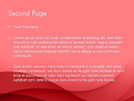 Red Waves PowerPoint Template Slide 2