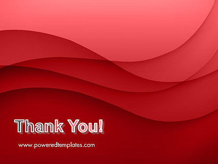 Red Waves PowerPoint Template Slide 20