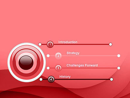 Red Waves PowerPoint Template Slide 3
